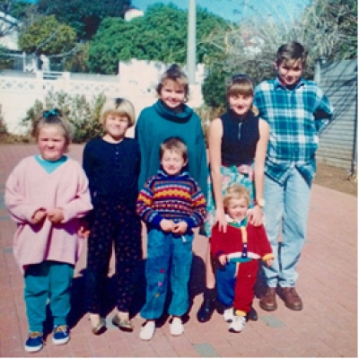 From left to right:  Kelly, Terry, Sean, Tracey, Tarryn, Byron & Leo